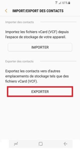 contact code pin ecran verrouillage Samsung S8 exporter