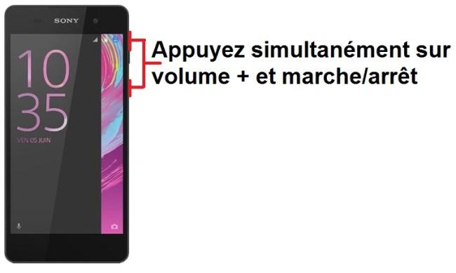 Sony Xperia E5 imprim ecran