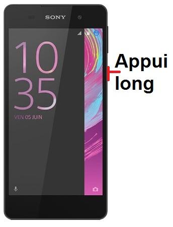 Sony Xperia E5 allumage
