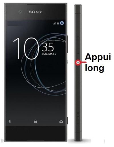 Sony Xperia XA1 allumage