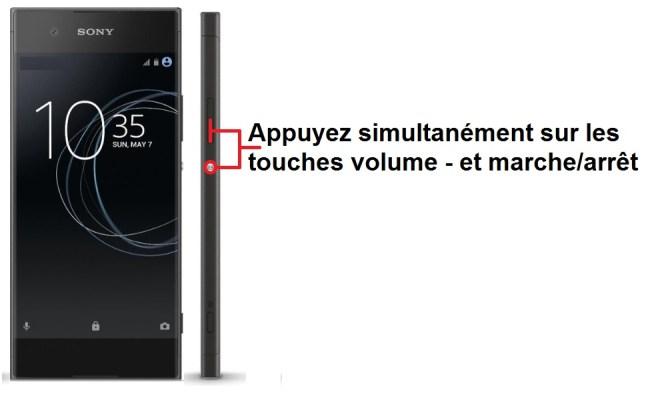 Sony Xperia XA1 imprim ecran