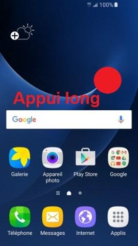 Personnaliser Samsung android 7.0 Widget