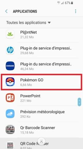 application Samsung android 7 nougat desinstaller