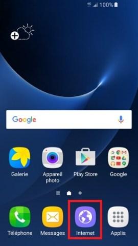 internet Samsung android 7 effacer les données navigateur