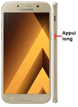 Samsung Galaxy A5 2017 allumage