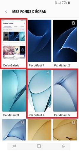 Personnaliser Samsung Galaxy S8 fond ecran