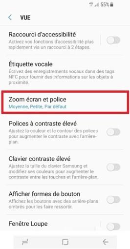 Personnaliser Samsung Galaxy S8 police