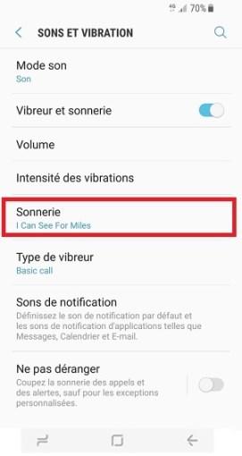 Personnaliser Samsung Galaxy S8 sonnerie