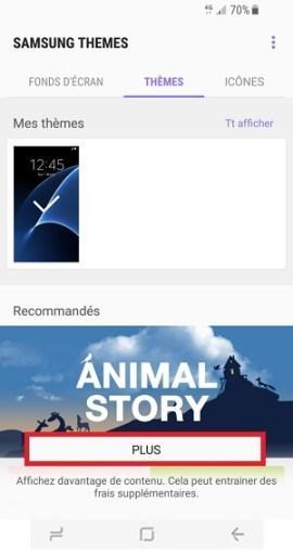 Personnaliser Samsung Galaxy S8 theme