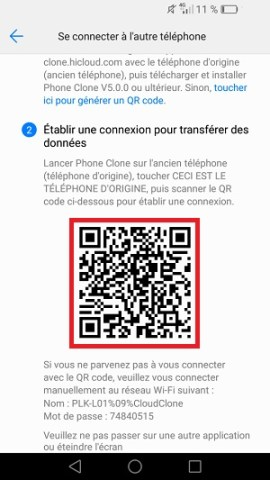 Transférer ses donnees huawei phone clone