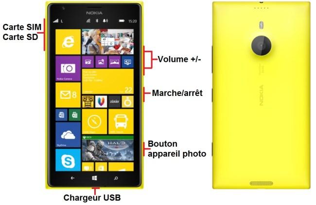 Nokia Lumia 1520 bouton