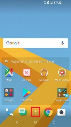 HTC android 7 réintialiser