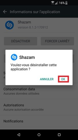 Application HTC désinstaller