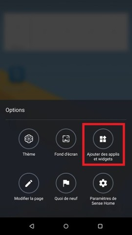 Personnaliser HTC android 7 widget