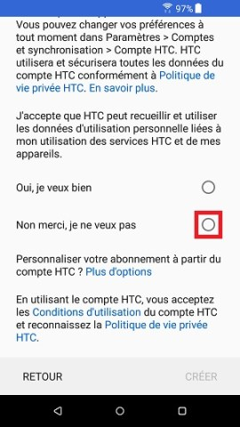 compte HTC