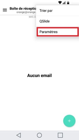 email LG android 7 2eme compte email