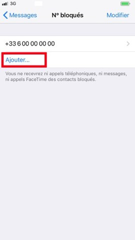 SMS iMessages iPhone 8 bloqué