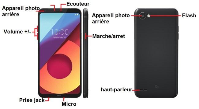 LG Q6 bouton