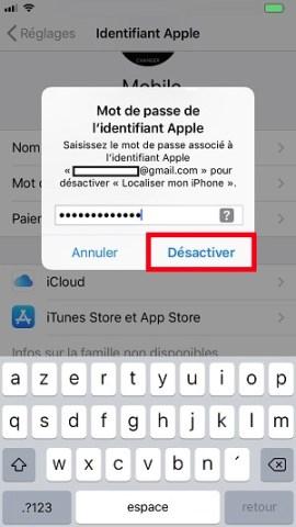 Compte apple deconnexion