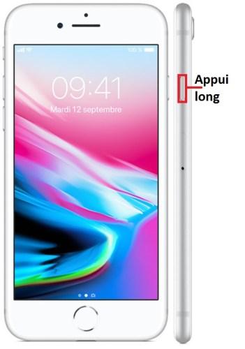 iPhone 8 allumage
