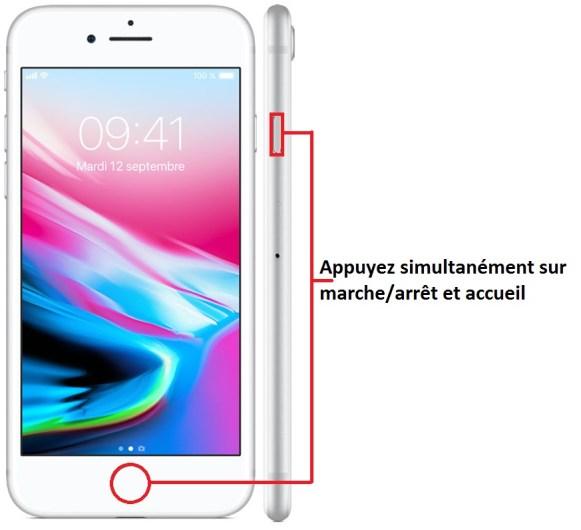 iPhone 8 imprim ecran