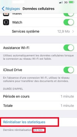 internet iPhone X consommation des données
