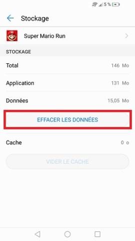 Applications Huawei P10 effacer données