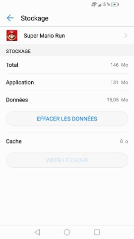 Applications Huawei P10 vider cache