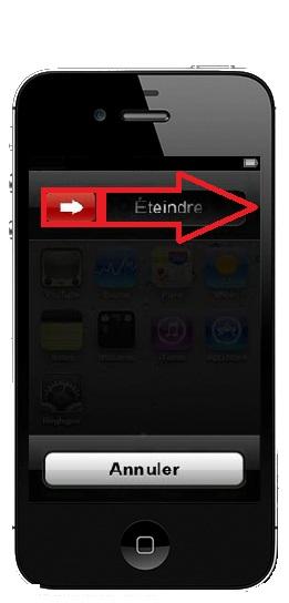 éteindre iPhone 4S
