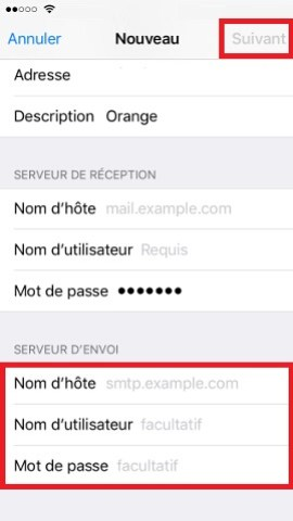 iPhone IOS 10 reglages mail contact calendrier