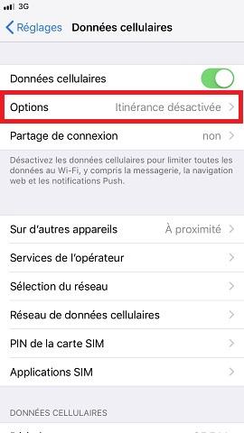 internet iPhone 8 voix et données
