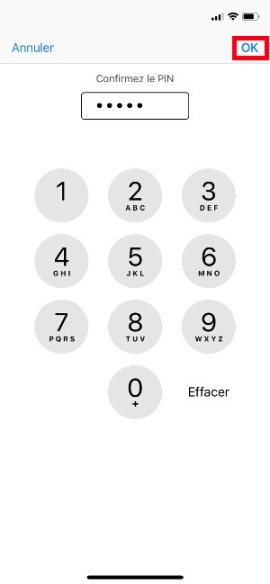 contact code pin ecran verrouillage iphone 7-pin-confirmer