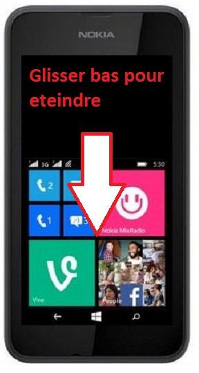 éteindre Lumia 530