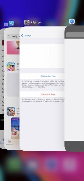 Trucs et astuces iPhone X application ouverte