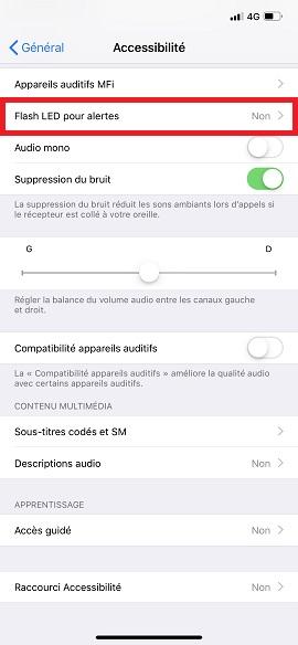 Trucs et astuces iPhone 6 6S plus SE-led-alerte