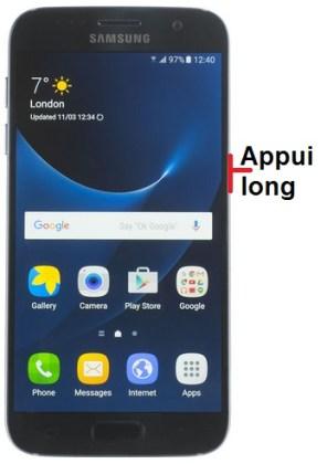 éteindre Samsung S7