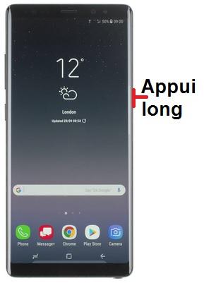 éteindre Samsung Note 8