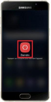 éteindre Samsung A5 2016
