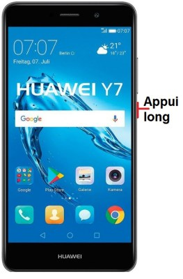 éteindre Huawei Y7