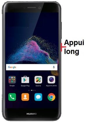 éteindre Huawei P8 lite 2017