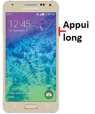 éteindre Samsung Alpha