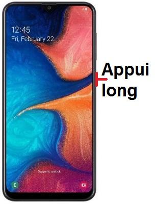 éteindre Samsung A20