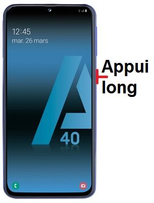 éteindre Samsung A40