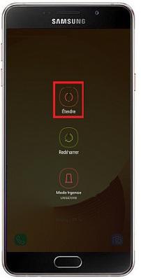 éteindre Samsung A7 2016