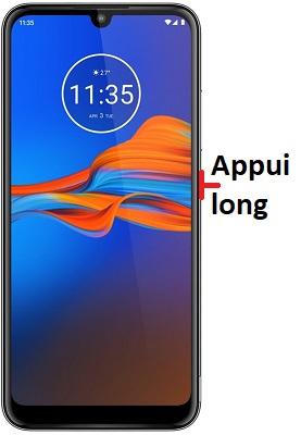 éteindre Motorola E6 Plus