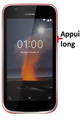 éteindre Nokia 1