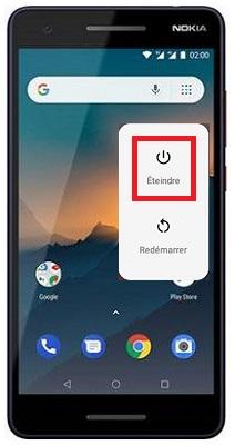 éteindre Nokia 2.1