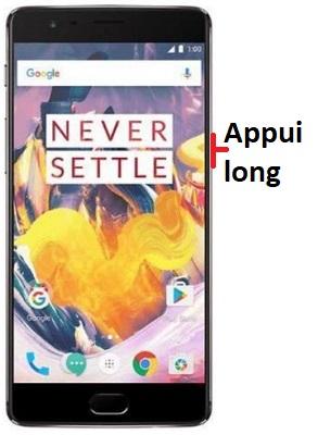 éteindre OnePlus 3T