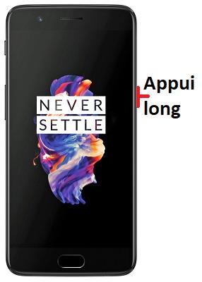 éteindre OnePlus 5