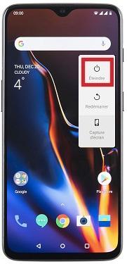 éteindre OnePlus 6T